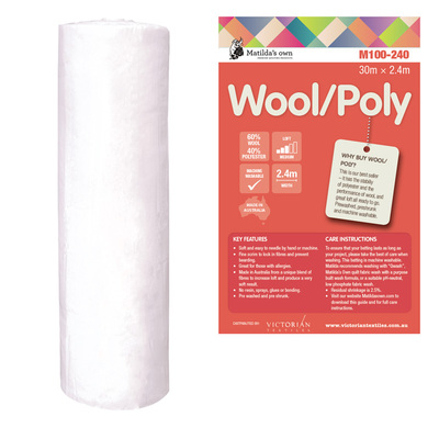 Batting  Wool & Polyester