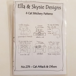6 cat stitchery patterns