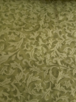 Flannel Backing Cotton Foliage, Green - Basil