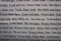 Dick and Jane, See Spot Run, Sentence Structure